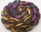HUMBUG Corriedale Hand painted -  100g -  roving, combed top fibre fiber Spellbound