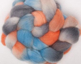 Hand painted DORSET HORN top roving wool fibre 100g