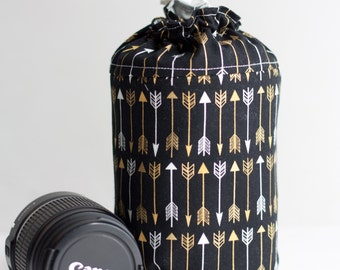 NEW gold arrows Lens Luggage (ready to ship) - large