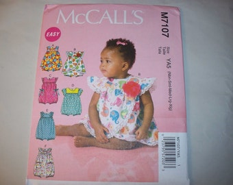 New McCall's  Baby Clothes Pattern, M7107 (Free US Shipping)