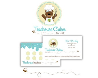 Custom Logo Package, Logo Design and Double Sided Business Card Design, Reward Card Design