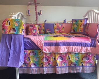 My Little Pony Boutique Crib Mini Crib Toddler Nursery Girl Bedding Set