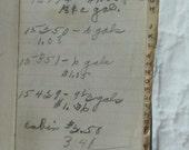 Antique Mileage Journal Diary 1939 through 1940's all handwritten