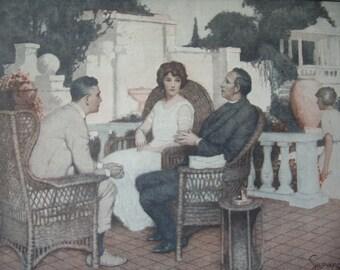 Mrs. Dey's Fourth Husband 1923 Vintage Print