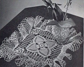 Crochet PATTERN for a Square Doily D 120 Pineapple Trellis 8 half inches square   PDF instant download