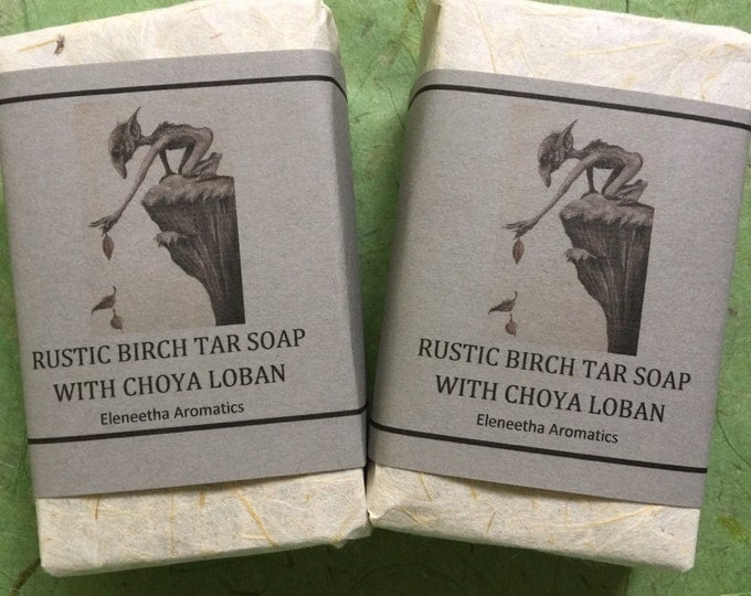 Anastasias Rustic Birch Tar Soap with choya loban and frankincense super healing