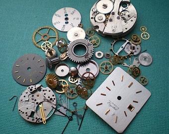 Vintage steampunk watch parts sampler, No. 2