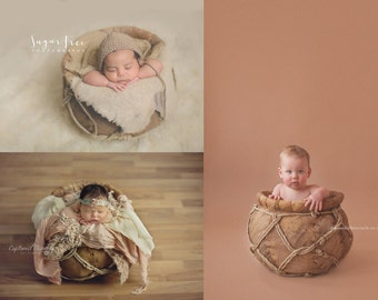 Organic Basket Style #1 - Newborns Sitters Toddlers - Photography Prop