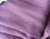 Vintage 1950s Mauve Upholstery Curtain Fabric - 2 Yards Plus - Satin Backed Linen Tweed - Pillow Crafting Chair - Purplish Pink Dusty Rose