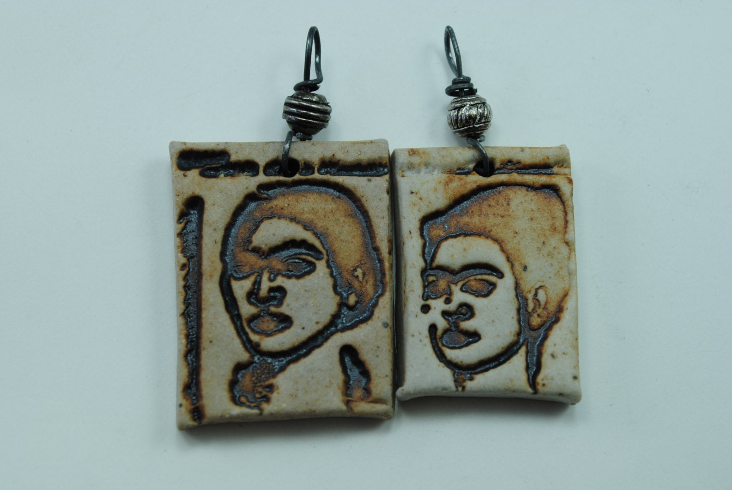 Ceramic Pendant Frida Skeleton Necklace Skull Pendant Dia De