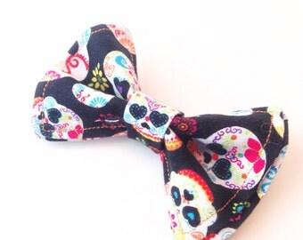 Day of the Dead Bow Tie - Sugar Skull Bow Tie- Halloween Bow Tie - Fall Bow Tie - Bowtie - Boys Bow Tie - Skull Bow Tie - Skull Tie
