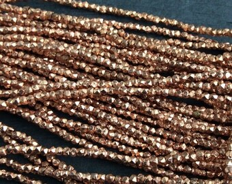 8 inch Strand of Solid Copper Nugget Beads 2-2.5mm