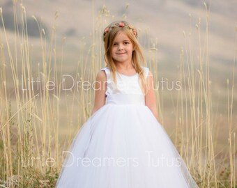 NEW! The Juliet Dress in White - Flower Girl Tutu Dress