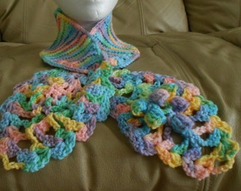 Knitted Keyhole Scarf Neck Wrap