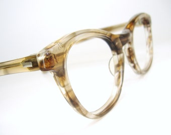 Vintage Tart Optical Marbled Horn Rim Cat Eye Eyeglasses Frame OTE