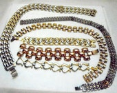 Vintage Panther Chain Necklace's and Bracelets Lot of 6