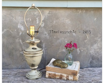 Table Lamp - Desk Lamp - Rustic Decor - Shabby Chic Decor - Lamp - Lighting - Brass Lamp - CHIC