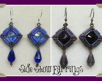 Side Show Earrings PDF Jewelry Making Tutorial (INSTANT DOWNLOAD)
