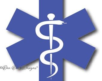 Medical Paramedic EMT Symbol SVG cut File Vector pdf dxf eps jpg png Cameo Silhouette Studio Software V2 V3 Cricut HTV or Vinyl Decal