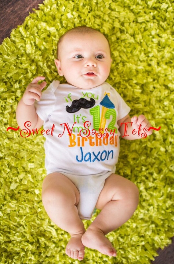 Items similar to half birthday bodysuit little boy for 6 month birthday decorations