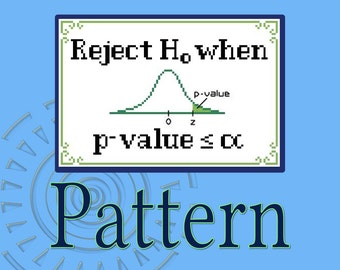 P-value Guide Cross-stitch Pattern