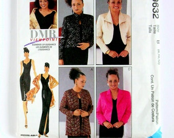 Exquisite Cocktail Dress and a Wardrobe of Jackets and Stoles - McCalls 9632 - Uncut Sewing Pattern, Sizes 8, 10, 12