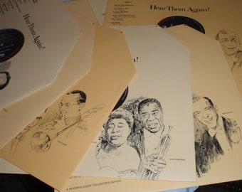 Vintage Vinyl, Armstrong, Astaire, Calloway, Maurice, Dorsey, Crosby, Ella, Billie,Lena Dinah Frank Duke etc