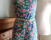 SEAWAVES Vintage 1960 Cotton swim romper size 20 (current USA sizing 14-16)