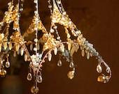 A Crystallized Sunshower Chandelier