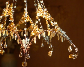 A Crystallized Sunshower Chandelier