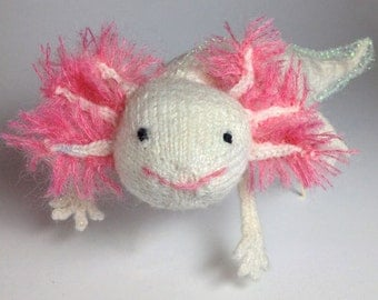 Knitted Axolotl - Salamander Greeting Card