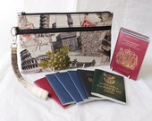 Family Passport Holder - Multiple Passport Holder - Travel Document Organizer - Large Passport Holder - Unisex Italy  READY to POST