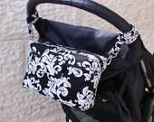 Small Diaper Bag - Small Nappy Bag - Stroller Bag - Pram Bag - Buggy Bag - Gender Neutral - black white - stroller organizer MADE to ORDER