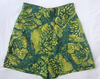 SALE xs Vintage 50s Hawaiian Shorts High Waist 40s Honolulu Rockabilly Pinup UK 6 US 2