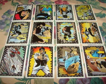 The Punisher 1988 Marvel Comics by Comic Images 12 Trading Cards