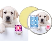 Labrador Retriever Boo Boo Butter Handcrafted Moisturizing Organic Balm for Dog's Discomforts 1 oz Tin with Lab Puppy Label in Gift Bag