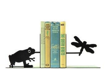 Frog Metal Art Bookends - Free USA Shipping