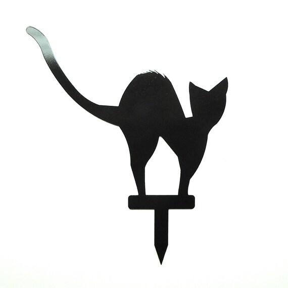 Scary Black Cat Metal Art Halloween Decor - Free USA Shipping