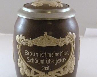 Rare Mettlach Villeroy and Boch Stein pattern 2942