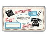 SALE Vintage Office Cavallini Large Rubber Stamp Set