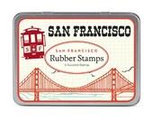 SALE San Francisco Cavallini Small Rubber Stamp Set