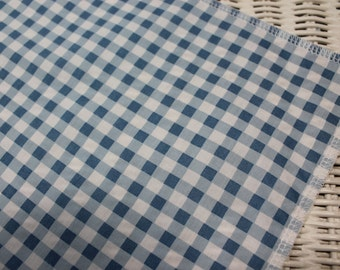 Free USA Shipping/Light Blue and White Table Runner/Light Blue and White Gingham Table Runner/PartyTable Runner/Gingham TableRunner/Gingham