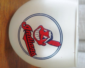Vintage Cleveland Indians Cup Souvenir Baseball Collectible Souvenir Pearl Anchor Hocking