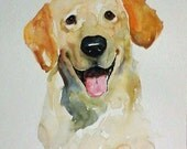 CUSTOM PET PORTRAIT (large size)  Original watercolor painting 11x14inch