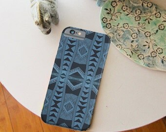 Blue Geometric Quilt  - iPhone Case & iPod Touch