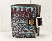 Valentine Gifts Leather Wrist Cuff Women's Cuff Bracelet, Winter Trends, Inspirations Handmade Finds, Present for Her, February Finds