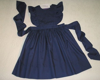 Easy Care Navy Blue School Uniform in Pinafore Jumper style.  Size 6 and Ready to Ship.