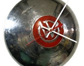 1948 - 1949 Willys - Overland Jeep Hubcap Clock - Garage Hub Cap Wall Decor