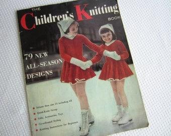 Vintage 1955 The Children's Knitting Book Knit Patterns for Children