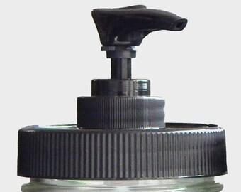Mason Jar Pump Lid, Rustproof soap dispenser, black plastic, DIY